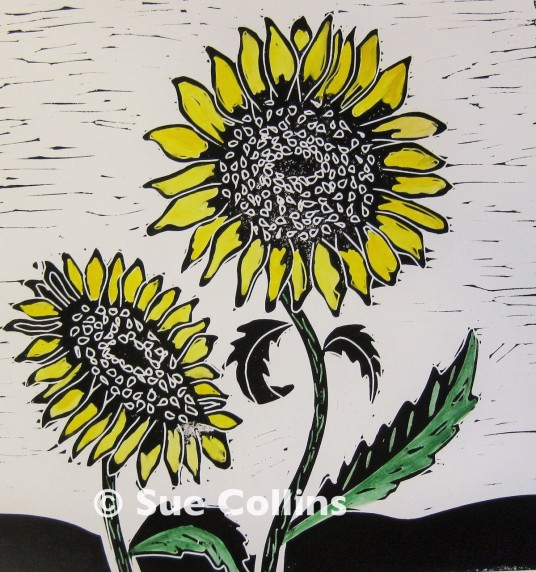 Watermarked Sunflowers
