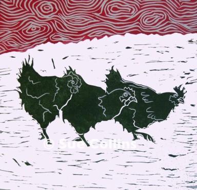 Watermarked Three Hens