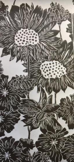 Sunflowers textile 1