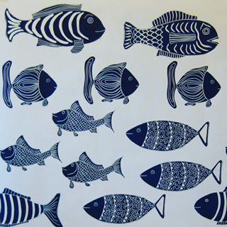 Textile design fish