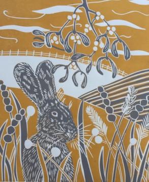 Winter Hare portrait