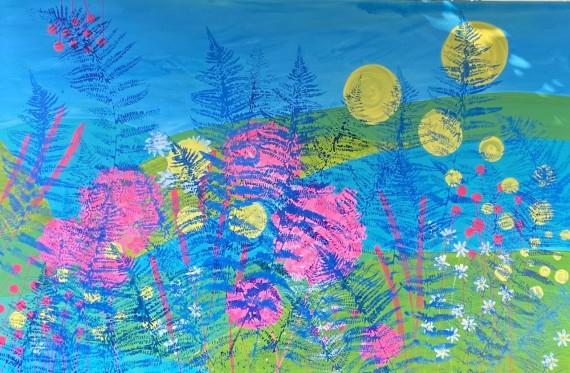 A Sense of Love - Sue Collins - 50 x 150 cm mixed media