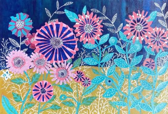 A Summer Evening - Sue Collins - Mixed Media - A2